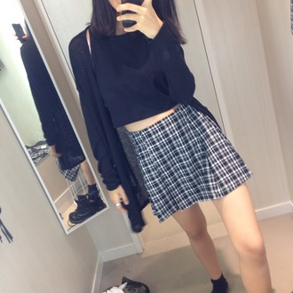 clothes skirt striped skirt