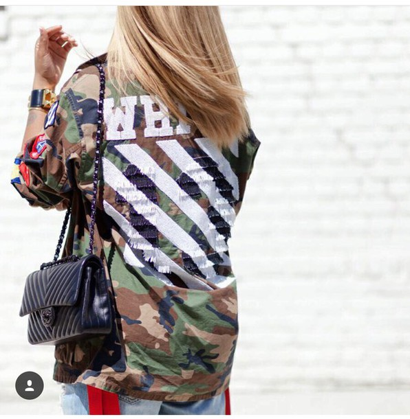 Womens camouflage military jacket