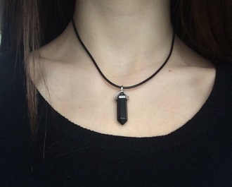 necklace all black everything jewels crystal quartz necklace crystal quartz crystal quartz grunge pale grunge pale sweatshirt black crystal quartz necklace black black crystal black quartz black necklace black sweatshirt back kristall chain hipster leatheband choker necklace tumblr girl tumblr clothes tumblr jewelry black gem black jewelry boho jewelry hippie jewelry