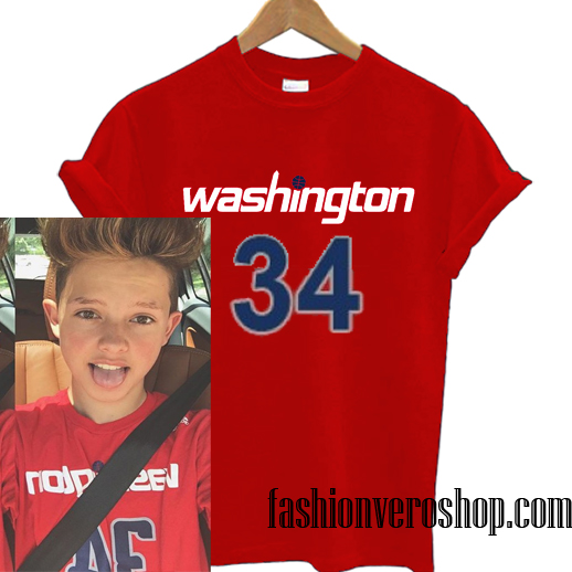 Washington 34 jacob sartorius T shirt