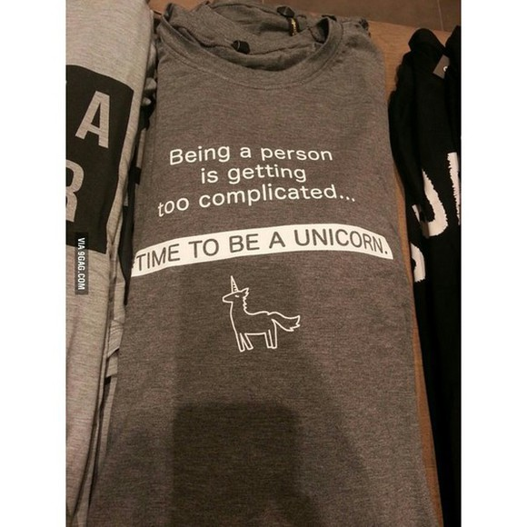 unicorn unicorn shirt t-shirt grey