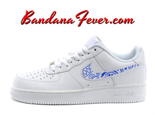 Copy of Custom Red Bandana Nike Air Force 1 Shoes University