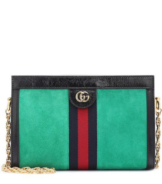 gucci bag crossbody bag suede green