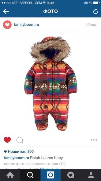 romper ralph lauren kids ethnic print fur ralph lauren baby clothing baby romper