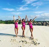 swimwear,pink,pink swimwear,summer,beach,summer holidays,instagram,one piece swimsuit