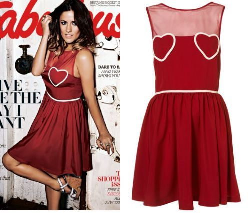 Topshop Celeb Red Heart Mesh Flippy Dress 6/8/10/12/14/16 **FREE MAC LIPSTICK** | eBay