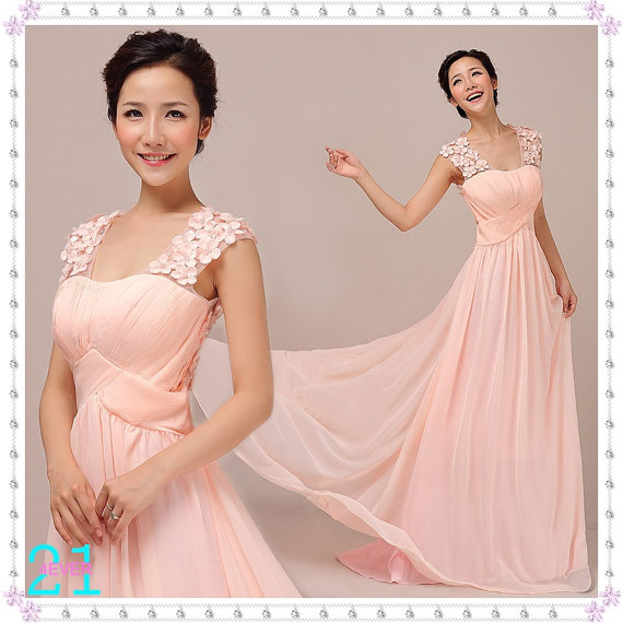 Cheap pink evening dresses long chiffon dresses sexy by 214ever