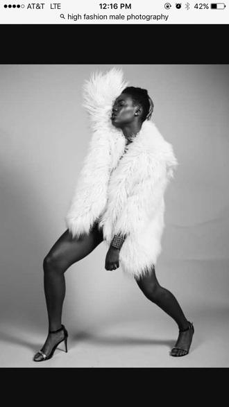 coat white faux fur fur coat faux fur coat