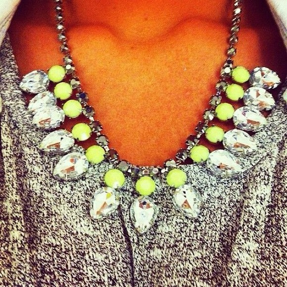 neon jewels necklace cute bling