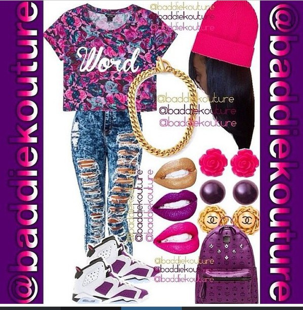 shirt word floral purple pink style fashion