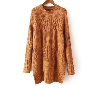 dress brown summer winter outfits warm cool lazy day fashion coton orange color/pattern fall outfits