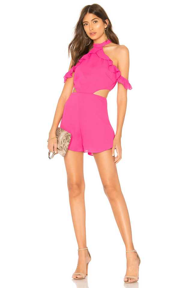 by the way. Tobi Ruffle Romper in pink