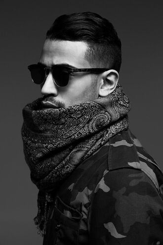 scarf camo jacket mens accessories mens printed scarf mens scarf dope swag