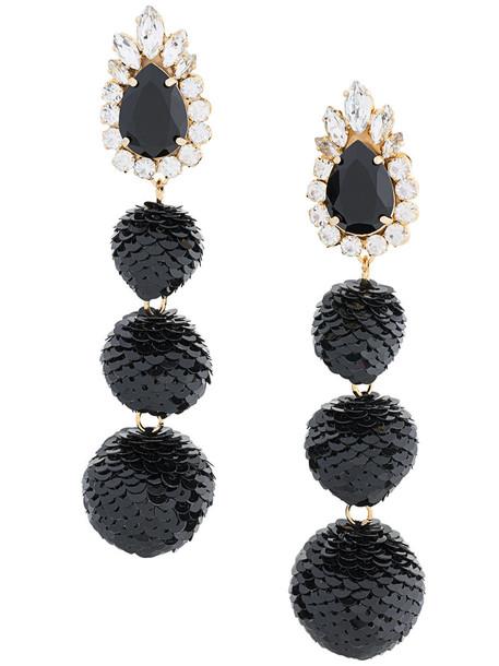 SHOUROUK women earrings black jewels