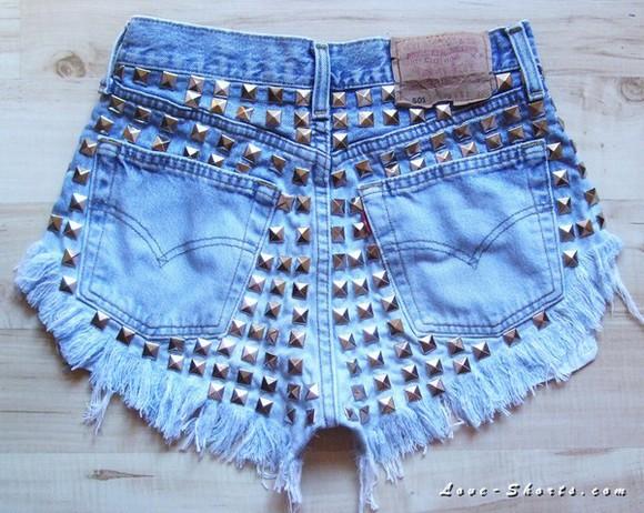 jeans ombre denim studs