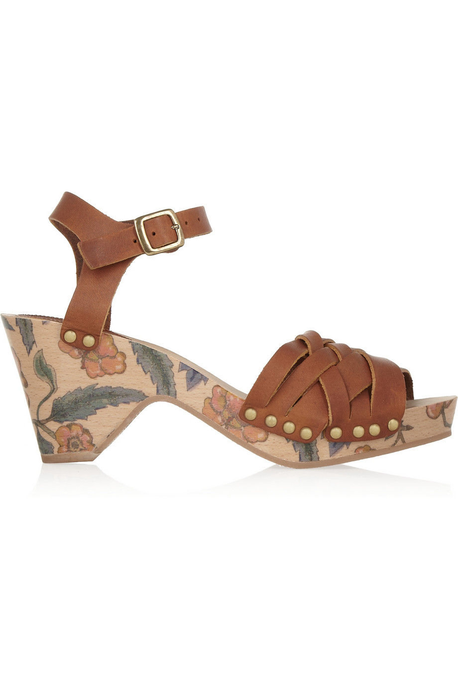 Print leather sandals – 60% at the outnet.com