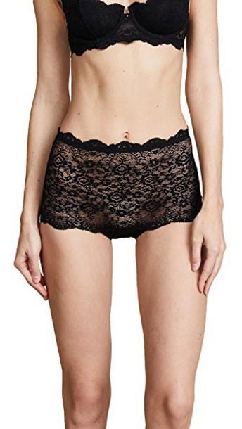 Eberjey high black underwear