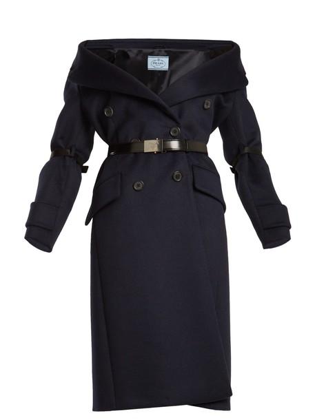 Prada coat wool navy