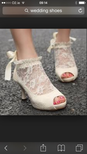 shoes ivory