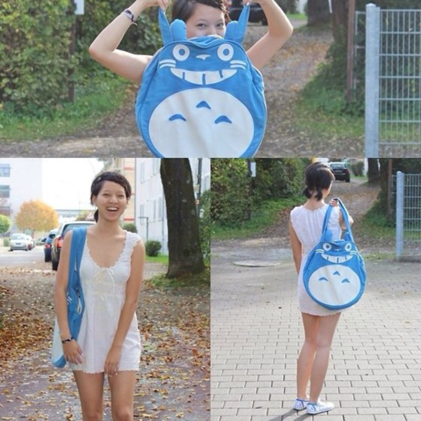 bag totoro bag blue bag blue totoro blue totoro bag