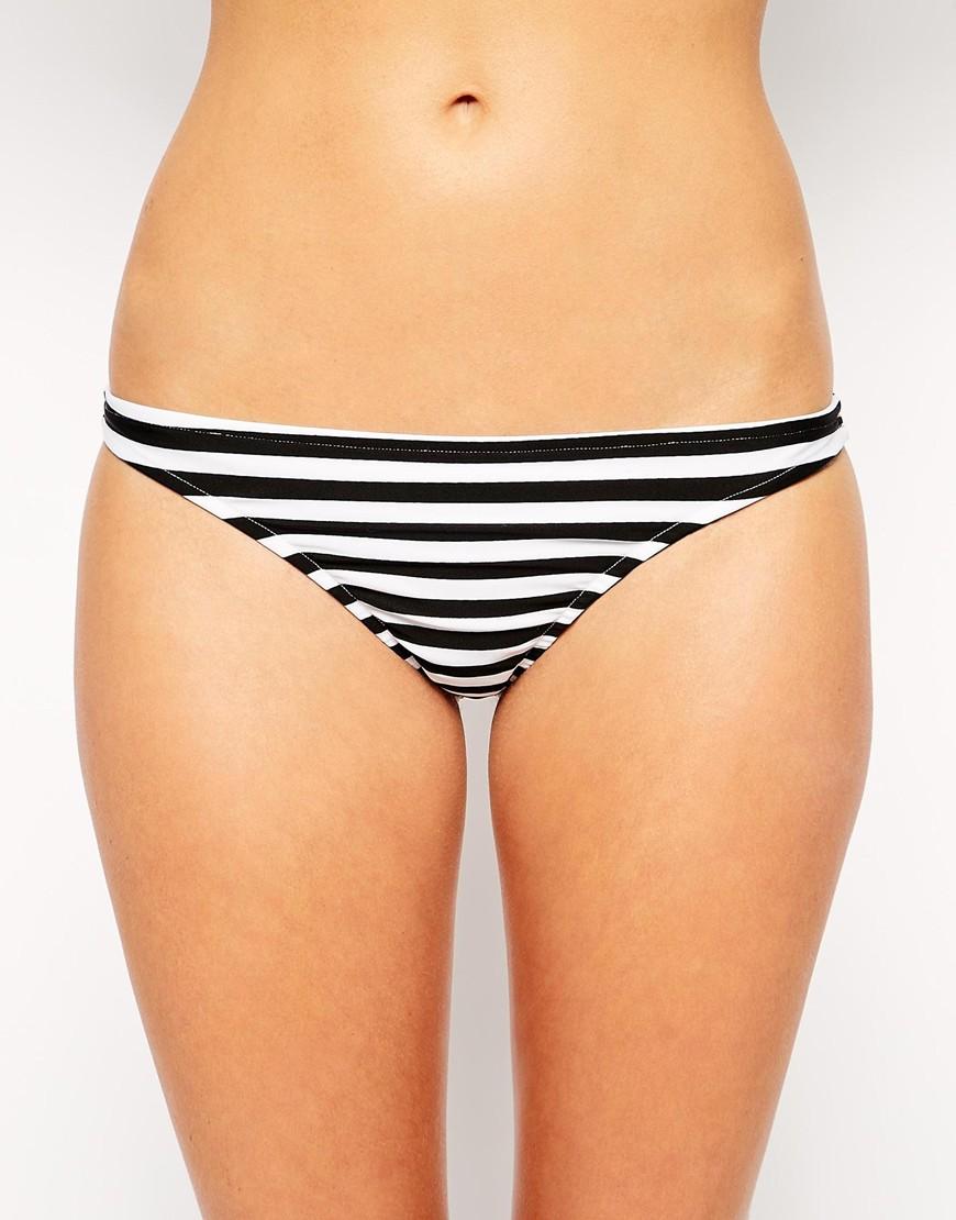 ASOS Mix & Match Stripe Hipster Bikini Pant at asos.com