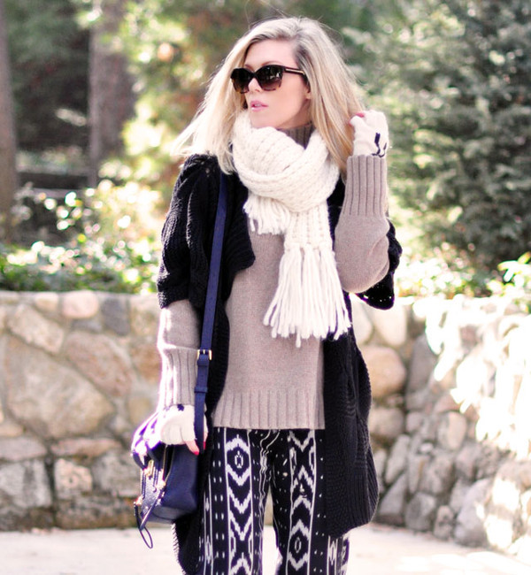 love maegan sweater scarf hat pants sunglasses