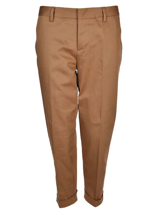 cropped brown pants