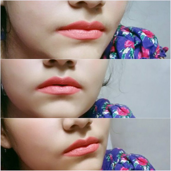 coral make-up lips lipstick