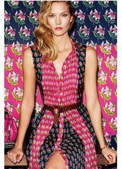 dress,belt,colorful,karlie kloss