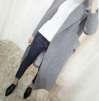 coat grey manteau