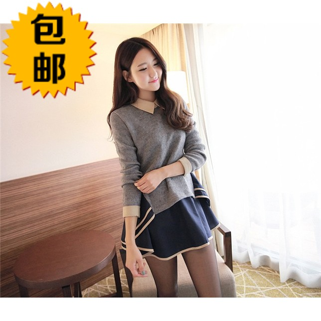 Aliexpress.com : buy free shipping 2014 spring irregular ruffle sweep bordered patchwork peter pan collar one piece dress from reliable dress dots suppliers on christine's shopping mall.