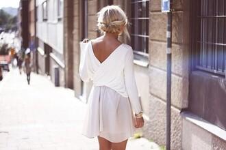 dress white dress pink dress baby pink low back dress backless dress bow back dress cream dress cream blouse