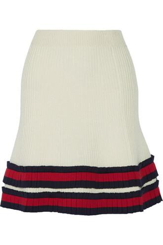 skirt mini skirt mini pleated wool