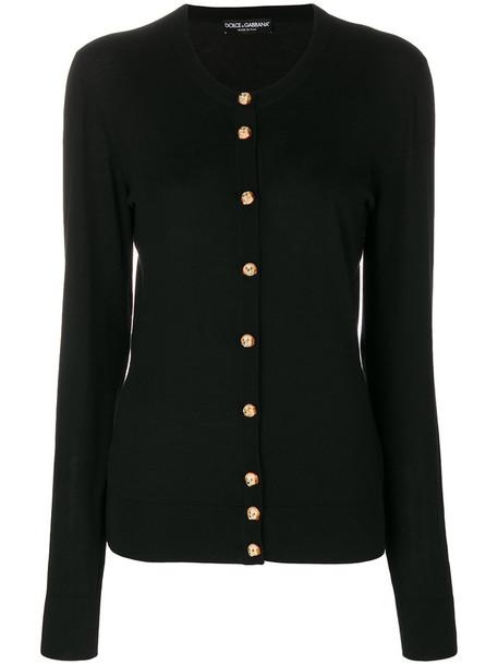 Dolce & Gabbana cardigan cardigan women dog cotton black wool sweater