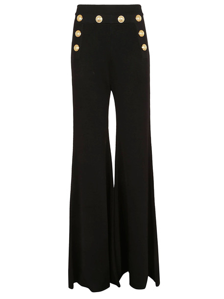 Balmain Buttons Applique Trousers in noir