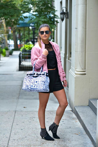 to be bright blogger jacket top shorts shoes bag