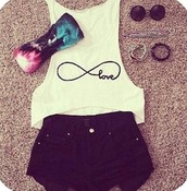 shirt,love,forever,jewels,shorts,underwear,bandeau,colorful,top,infinity love,white shirt,infinity shirt,love shirt,blue bandeau,pink bandeau,black bandeau,galaxy print,bralette,crop tops,crop,cropped,tank top,cut out crop top,cute,cute outfits,summer outfits,summer,summer top,white summer top,white,white t-shirt,white top,white crop tops