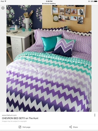 home accessory chevron bedding dorm college decor back to college college room aeropostale teenagers beautiful unique style teal purple blue bed in a bag handmade bedding white dorm room hipster bedding cute comforter pretty gorgeous