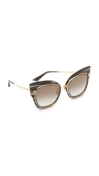 smoke sunglasses gold black