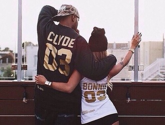 shirt bonnie and clyde couples jersey shirt