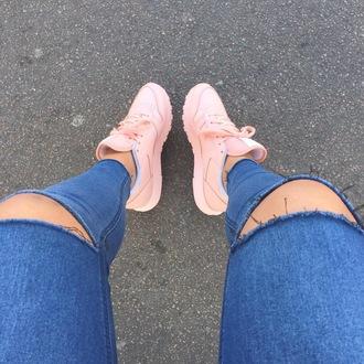 shoes pink nike adidas jeans sneakers nike sneakers