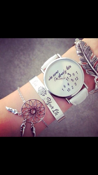 jewels bracelets watch silver