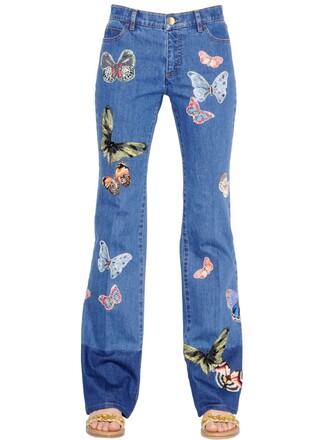 jeans denim butterfly cotton blue