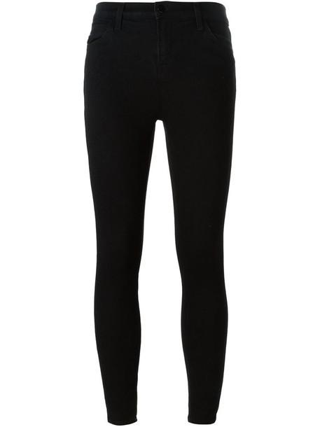 J BRAND jeans skinny jeans cropped women spandex cotton black