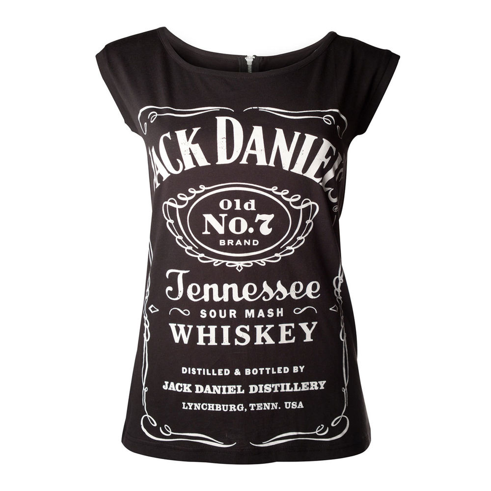 Jack Daniels Classic Logo Ladies Tee, Rock,Metal,Drinking,Whisky | eBay