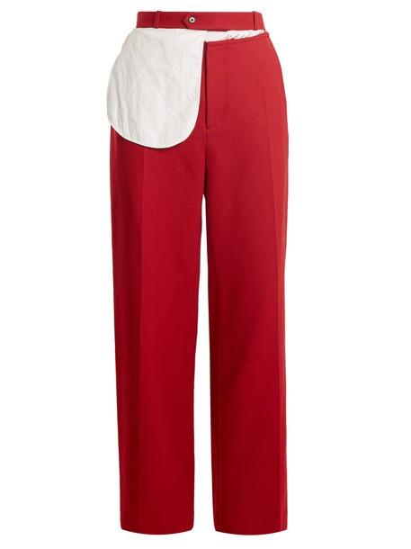 Joseph wool red pants