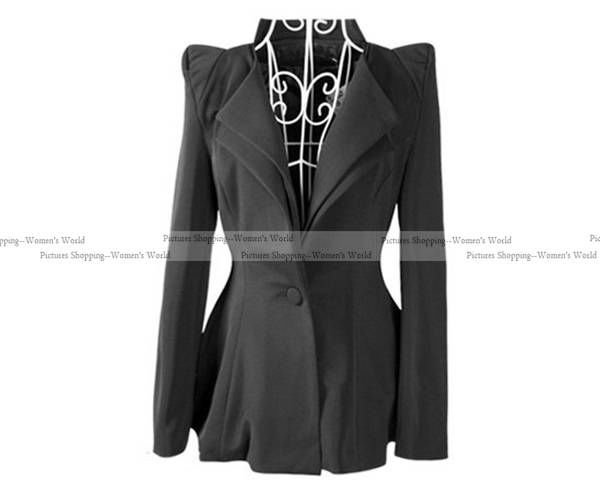 2012 autumn women new fashion double collar casual Pointed shoulder Blazer suits one button slimming coat  #7613-in Blazer & Suits from Apparel & Accessories on Aliexpress.com