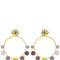 Color block hoop pendant earrings