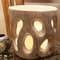 400066 small bubu capiz candleholder, wood