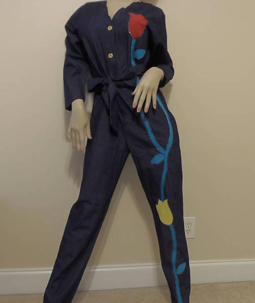9b6d0d2c0bc jumpsuit jeans jeans denim vintage retro 70s style 80s style vines pants  blue blue jeans blue